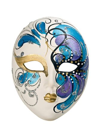 theatre mask: Venetian mask isolated on white.