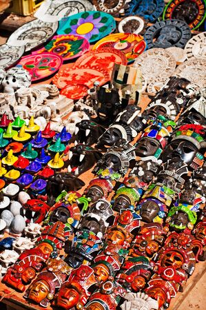 Mexican crafts in a tourist giftshop