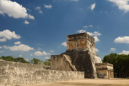 Ancient Aztec ruins at Chichen Itza, Mexico photo