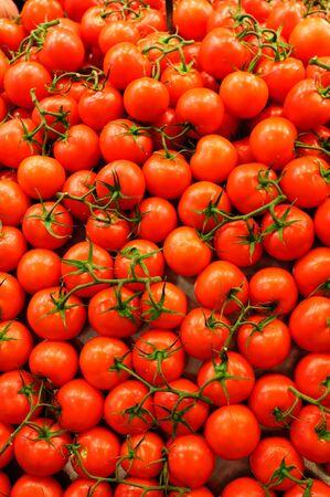 Tomato Background. Boqueria Market, Barcelona, Spain