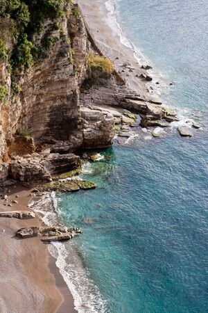 Amalfi Coast, a steep Mediterranean coastal area. Stock Photo