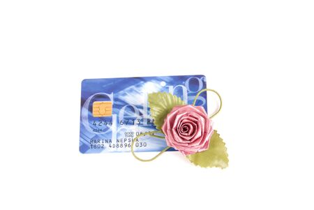 Isolated, credit card, finance, business, surprise, present