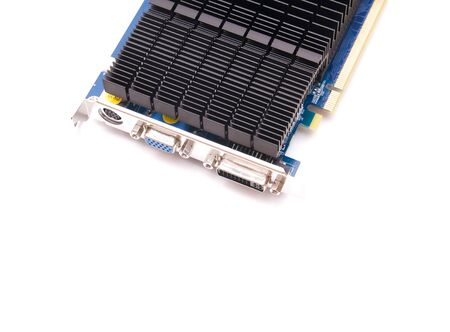 Computer video card on white background, communication, hardware Stock Photo - 4332944