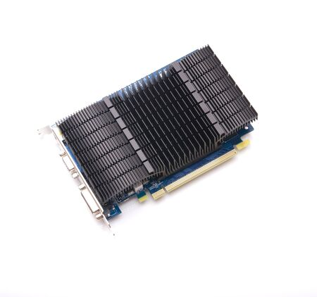 Computer video card on white background, communication, hardware Stock Photo - 4332941
