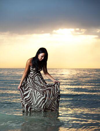 Asian beauty girl stay on the beach Stock Photo - 5437719