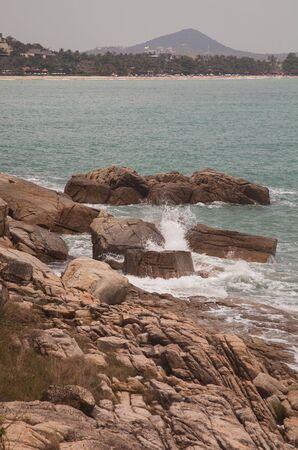 Landscape, surf, rocks, cliffs, ocean and beach