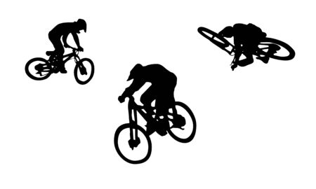 freeride: Action bike silhouettes   Illustration