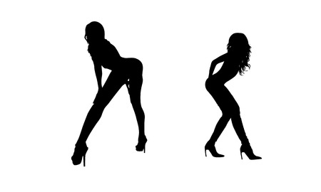 sexy: Sexy Woman Silhouette