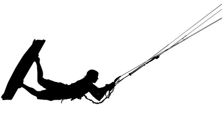 wind surfing: Wakeboard silhouette
