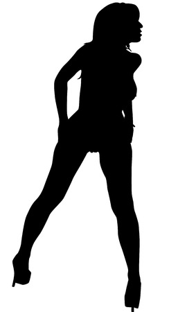 solid figure: Sexy Woman Silhouette
