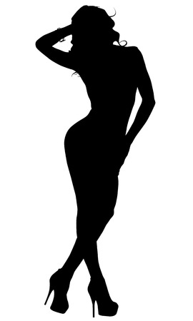 attractive woman: Sexy Woman Silhouette