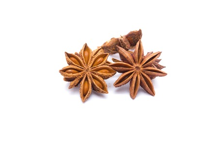 herbe: Star anise isolated on white background