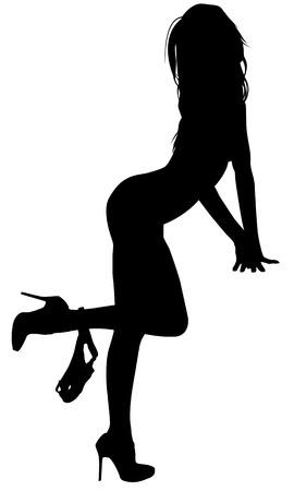 Mujer atractiva de la silueta Ilustración de vector