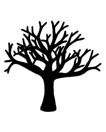 ancestry: Tree vector isolated on white background.