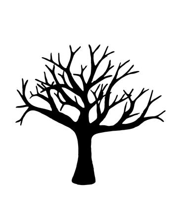 arbol geneal�gico: Vector del �rbol aislado sobre fondo blanco. EPS10.
