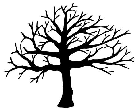 Drzewo wektora samodzielnie na białym tle. EPS10. Ilustracje wektorowe
