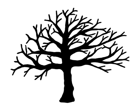 Drzewo wektora samodzielnie na białym tle. EPS10.