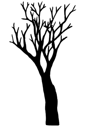 Tree vector isolated on white background. EPS10. Vettoriali