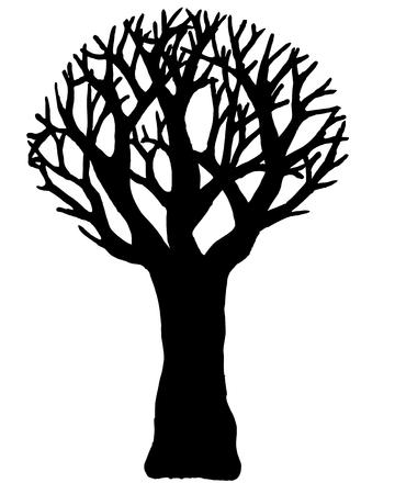 Wektor drzewo na białym tle. EPS10. Ilustracje wektorowe