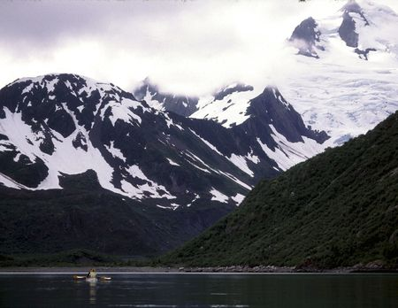 Sea Kayaking Northwestern Lagoon 版權商用圖片