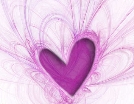 fractal pink: pink heart abstract