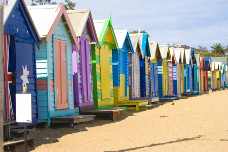 Brighton Beach Bathing Boxes photo