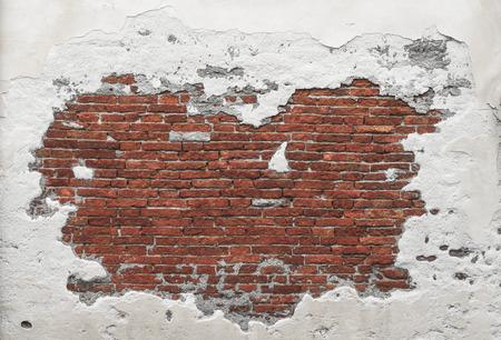 그런 왜곡 된 벽돌 벽