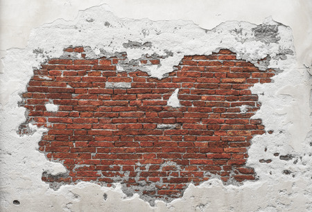 plaster: Grunge Distorted Brick wall