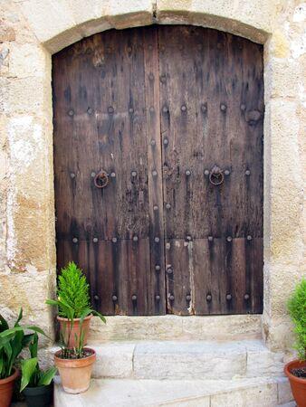 Old wooden door  Stock Photo - 7397243