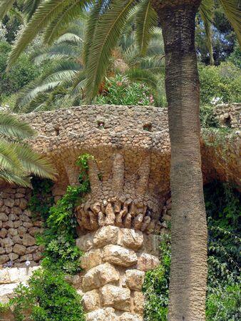 Palm tree made of stone Stock Photo - 7525102