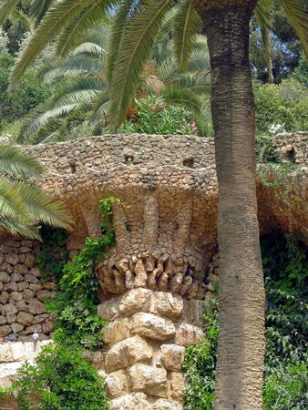 Palm tree made of stone Stock Photo - 7525102