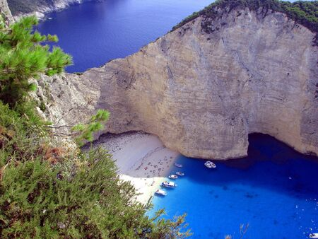 Shipwreck beach of Zakynthos Greece photo