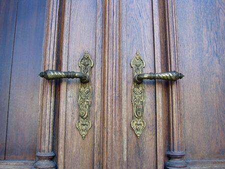 doorknocker: ornamented front door handles Stock Photo