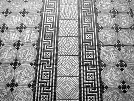 black and white floor  Stock Photo - 12890094