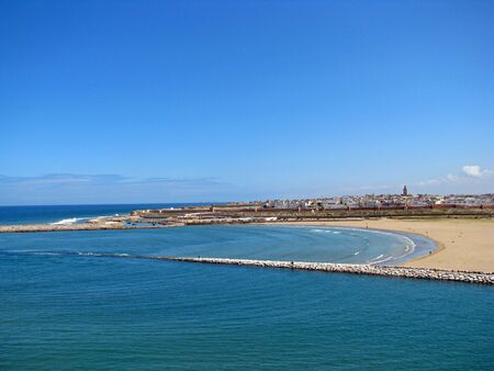 Panorama of the beach and the city of Rabat in Morocco