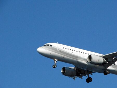 lading of an airplane  Stock Photo