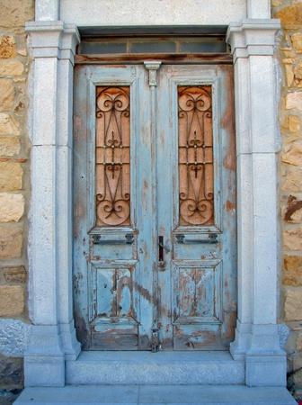 blue door Stock Photo - 21535547