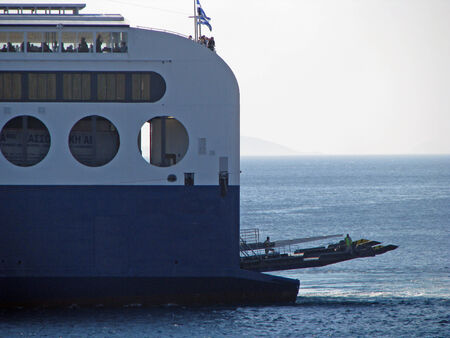 ferry docking Stock Photo