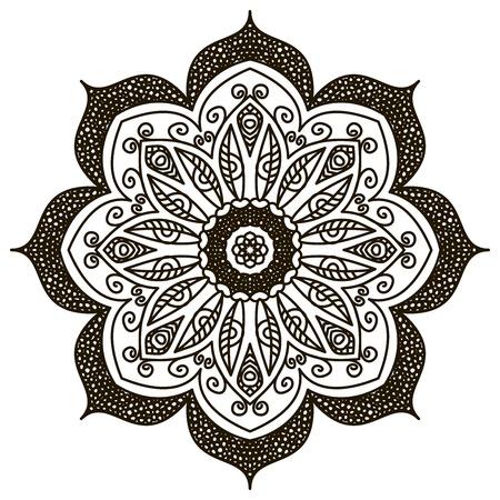 Mandala. Round Ornament Pattern. Vintage decorative elements. photo