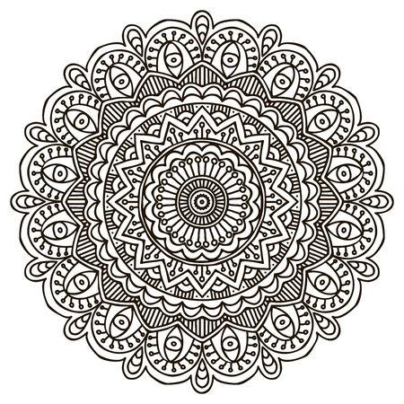 Mandala. Round Ornament Pattern. Vintage decorative elements. Vector