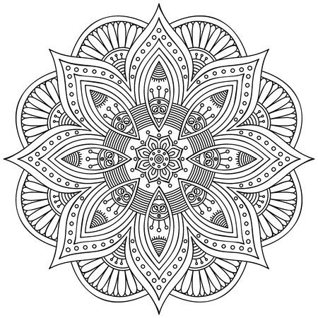 Mandala. Round Ornament Pattern. Vintage decorative elements. Hand drawn background. Islam, Arabic, Indian, ottoman motifs. 일러스트