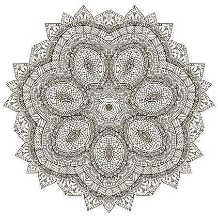 Mandala. Round Ornament Pattern. Vintage decorative elements. Hand drawn background. Islam, Arabic, Indian, ottoman motifs. Illustration