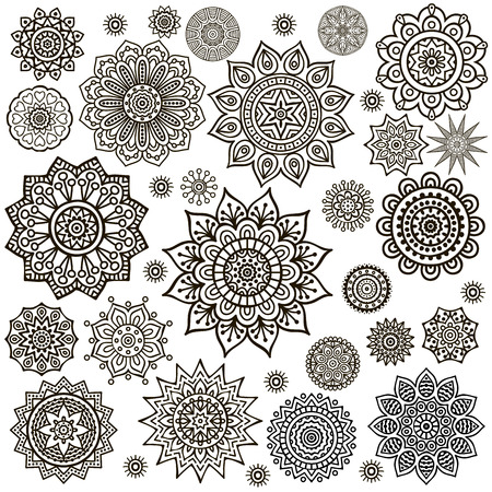 Mandala. Round Ornament Pattern. Vintage decorative elements. Hand drawn background. Islam, Arabic, Indian, ottoman motifs. Illustration