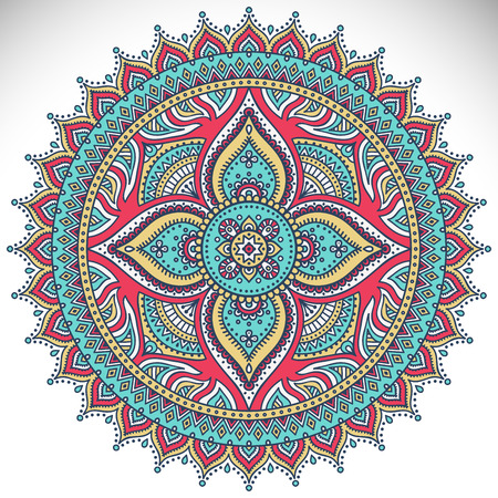 Mandala. Ethnic decorative elements. Hand drawn background. Islam, Arabic, Indian, ottoman motifs. Stok Fotoğraf - 37589429