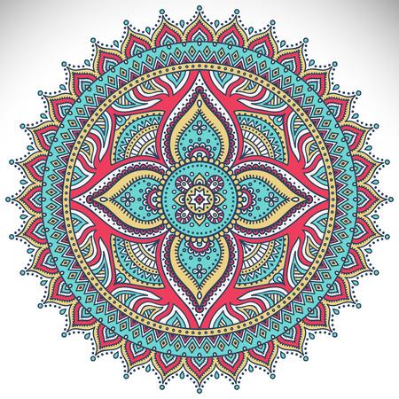 Mandala. Ethnic decorative elements. Hand drawn background. Islam, Arabic, Indian, ottoman motifs.