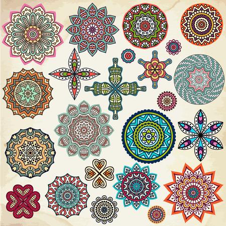 motives: Mandala. Ethnic decorative elements. Hand drawn background. Islam, Arabic, Indian, ottoman motifs.