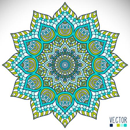 mandala flower: Mandala. Ethnic decorative elements. Hand drawn background. Islam, Arabic, Indian, ottoman motifs.