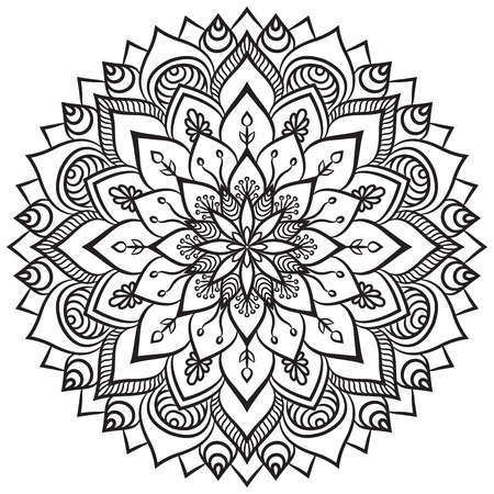 mandala: Vector Mandala. Round ornament in ethnic style. Hand draw