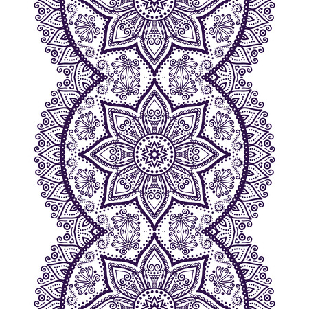 tile pattern: Ethnic floral seamless pattern. Abstract ornamental pattern Illustration