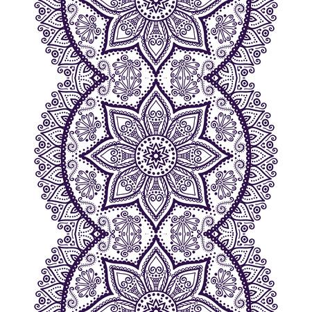 indianische muster: Ethnischen floral nahtlose Muster. Abstrakt muster Illustration